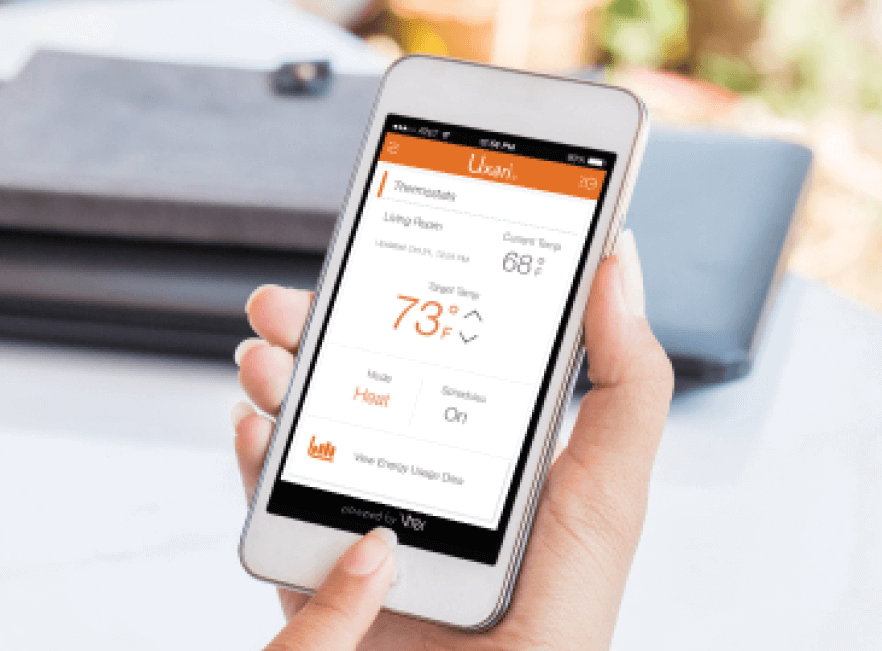 Checking smart thermostat through wireless