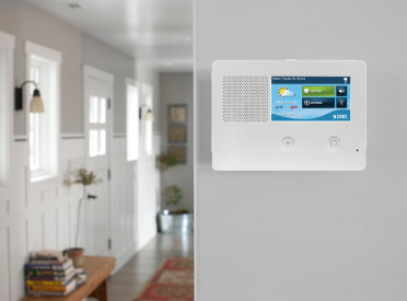 Four inch alarm system touch screen installed on Florida wall